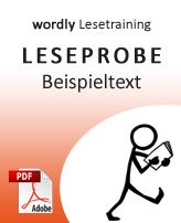 Leseprobe wordly Lesetraining: Beispieltext