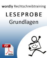 Leseprobe Grundlagen, wordly Rechtschreibtraining